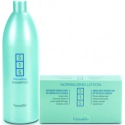 Farmavita 515 Dandruff Treatment (1)Normalizing Shampoo 1000ml (1)Normalizing Lotion 12 Phials