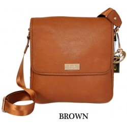 DIDA NY Style 95658 Men's Messenger Brown