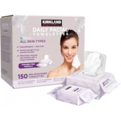 Kirkland Signature Daily Facial Wipes Cleansing Towelettes Wipes 150 ct