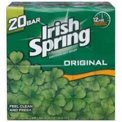 Irish Spring Deodorant Soap Original 3.75 oz. 20 ct.