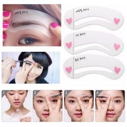 3 Pcs Eye Brow Class Drawing Guide Eyebrow Stencil Card Template