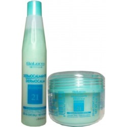 Salerm Technique Dermocalm Therapy (1)Shampoo (1)Emulsion (green group)