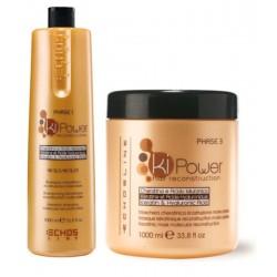 Echosline Ki-Power Keratinic Duo Kit 1000 ml. 1)Shampoo & 1)Mask